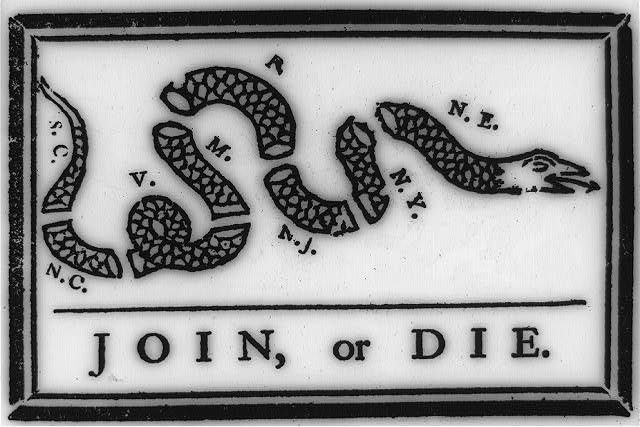 join or die ben franklin snake