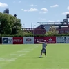 Julie Ertz eagles practice catch