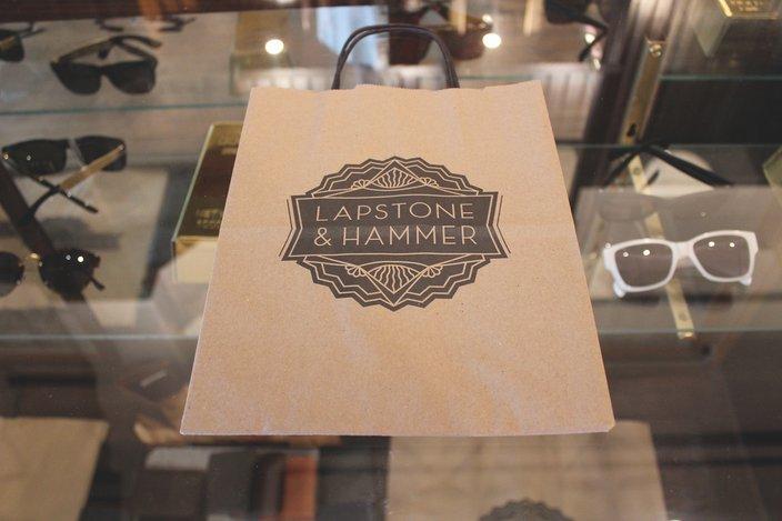 Lapstone shopping bag and logo