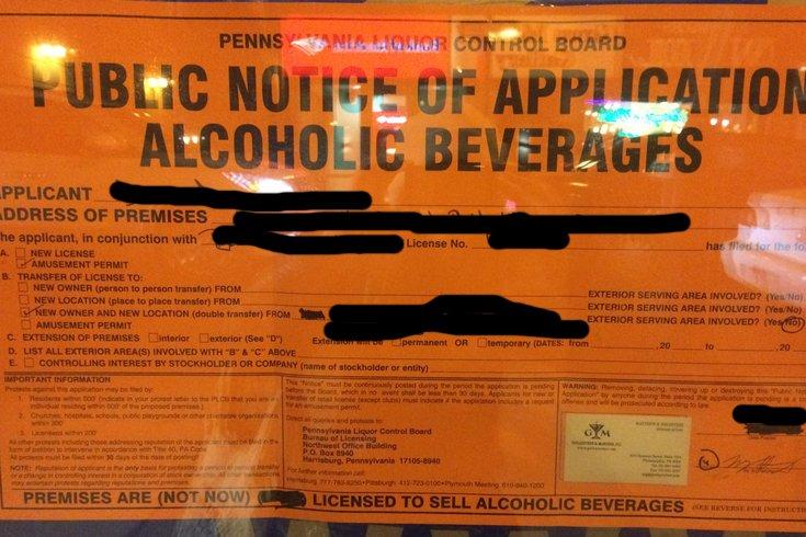 Pa. liquor licenses