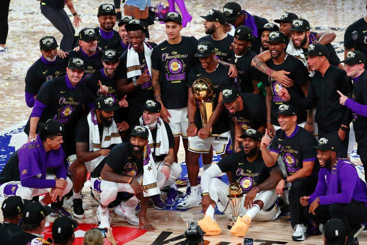 los angeles lakers nba title philly
