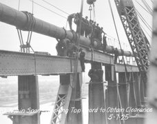 Ben Franklin Bridge construction 10