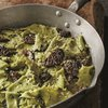 Mint pappardelle with morels