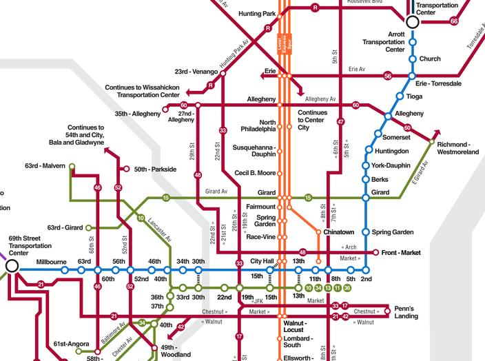Philly Subway Map.Septa Introduces Two New Map Concepts Looks For Feedback Phillyvoice