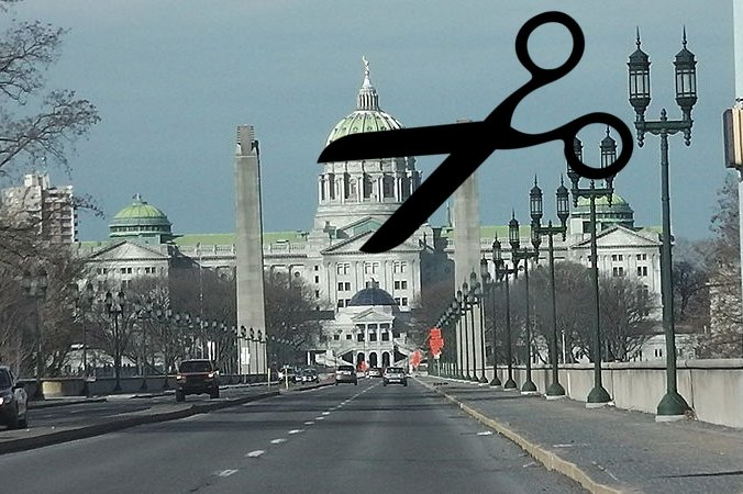 The Pennsylvania State Capitol Scissors