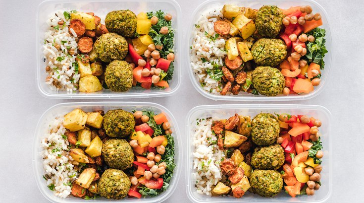 Meal prep containers at home