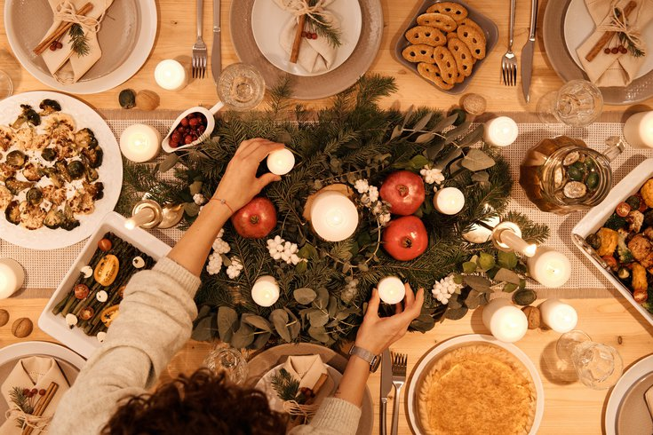 Holiday Meal on Table