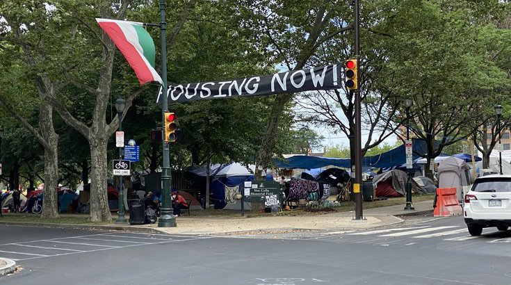philadelphia homeless encampment ridge avenue