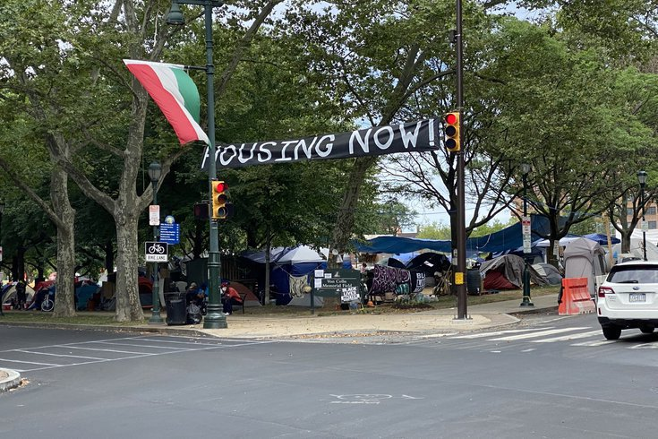 philadelphia homeless encampment ridge avenue