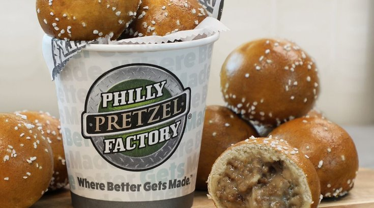 Philly pretzel factory cheesesteak