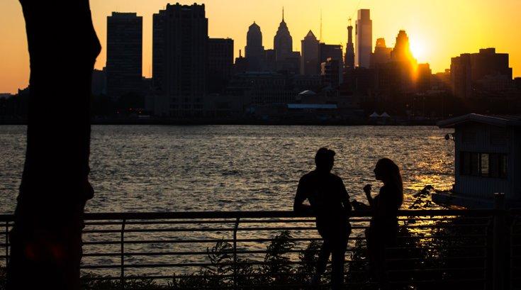 Phillyhenge sunset philadelphia