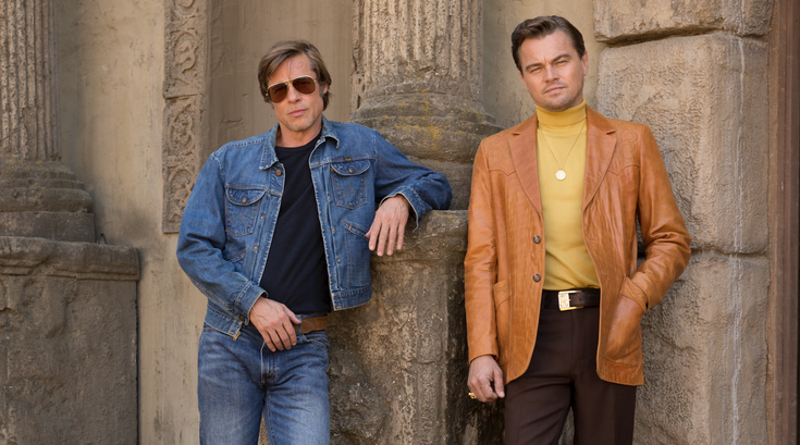 "Brad Pitt and Leonardo DiCaprio in ""Once Upon a Time in Hollywood"""