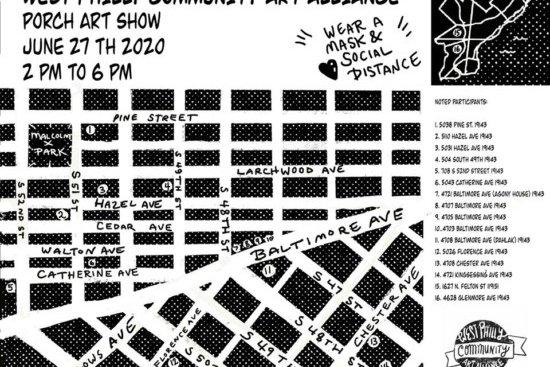 porch art show flyer