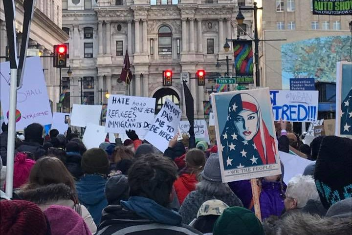 Pence protest