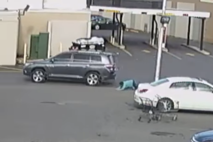 WATCH: Purse-snatching victim clings to fleeing suspect's