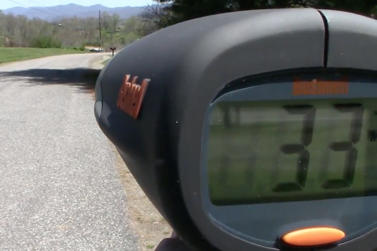 Radar gun youtube screencap