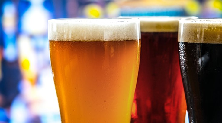 stock image of beers