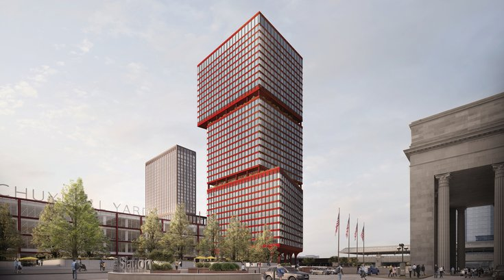 Schuylkill Yards East West Towers rendering 1