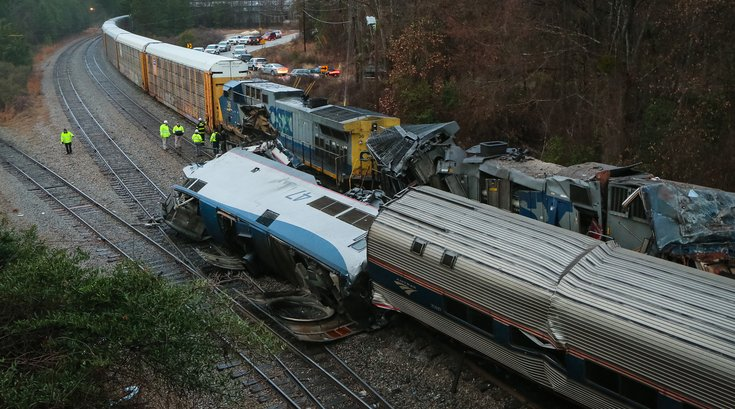 amtrak NC collision