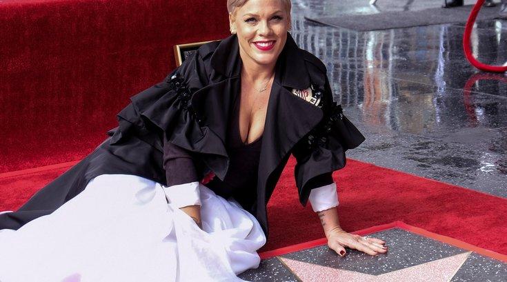 pink hollywood walk of fame star