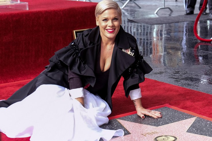 pink hollywood walk of fame star