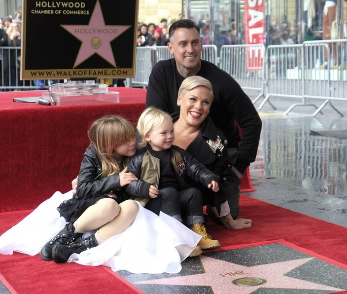 pink family hollywood walk of fame