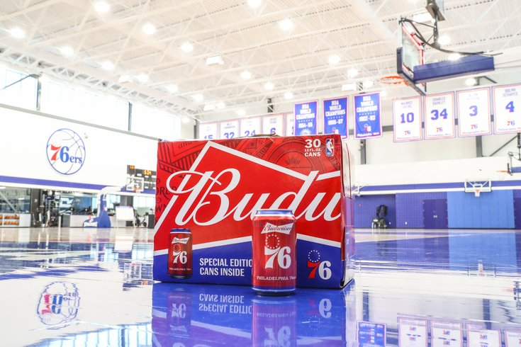 Budweiser Sixers cans 2019-20