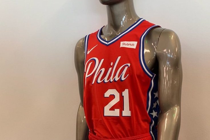the latest 3ac9d 631b0 Sixers 'leak' updated Statement edition jersey, featuring an ...