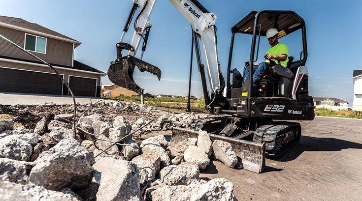 Souderton hatfield bobcat excavator