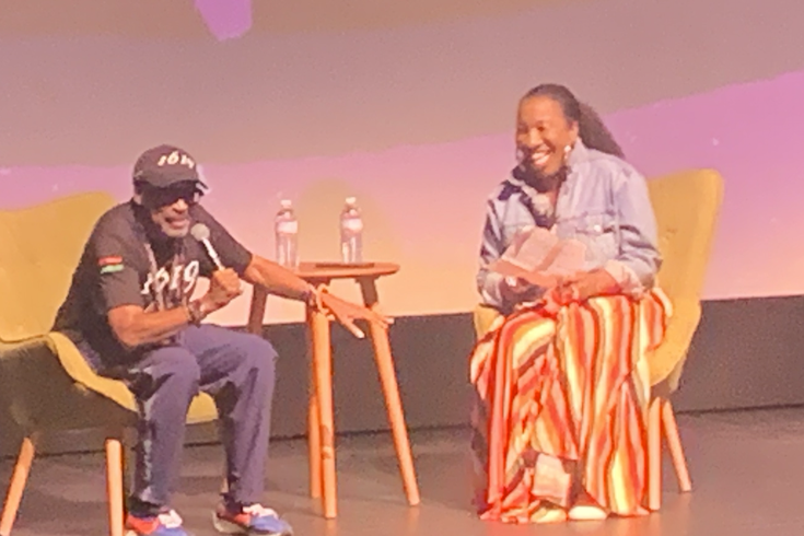 Spike Lee and Tarana Burke at the BlackStar Film Festival