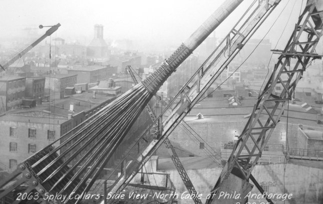 Ben Franklin Bridge construction 14