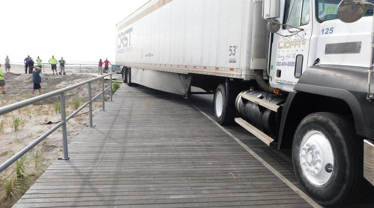 Stuck truck Ventnor