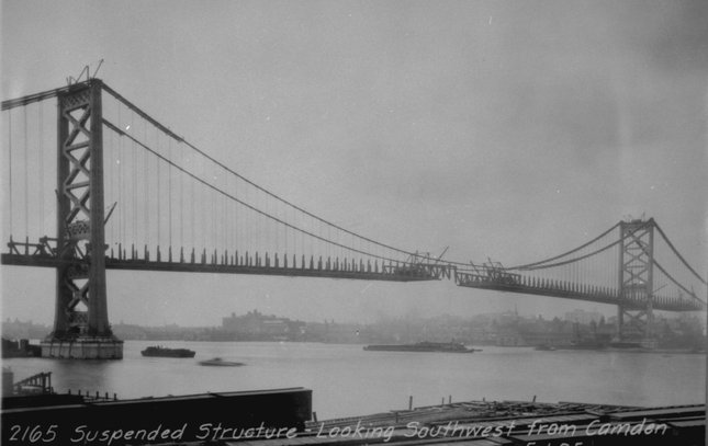 Ben Franklin Bridge construction 15