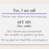 Tall People Business Cards