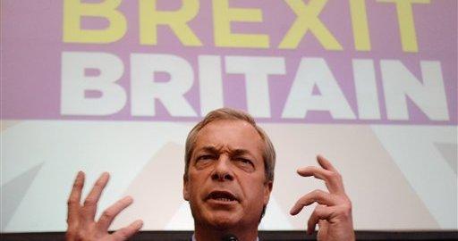 UK left with power vacuum as Nigel Farage steps down