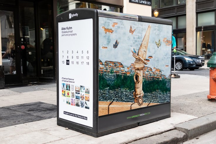 Public Art Project Reimagines 18 Trashcans In Center City Phillyvoice