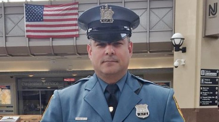 New Jersey Transit police officer Victor Ortiz