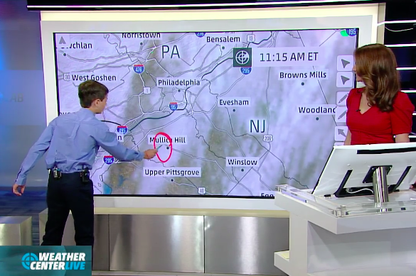 N J  boy, 11, delivers weather forecast through Make-A-Wish
