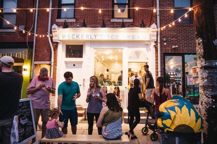weckerly's ice cream storefront
