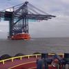Big cranes on a boat